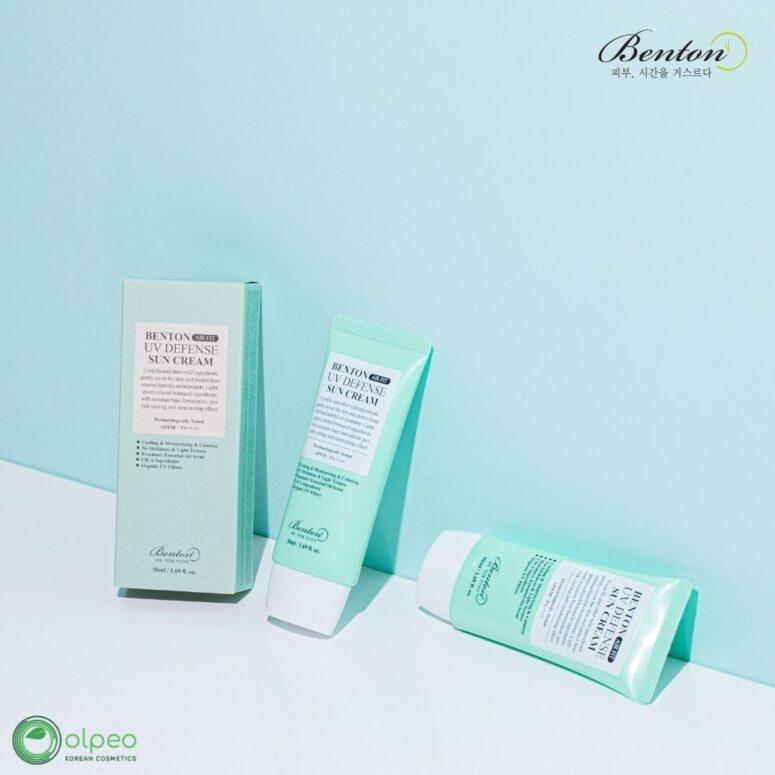 K-beauty product Benton Air Fit UV Defense Sun Cream at Olpeo Korean Cosmetics and Skincare Store