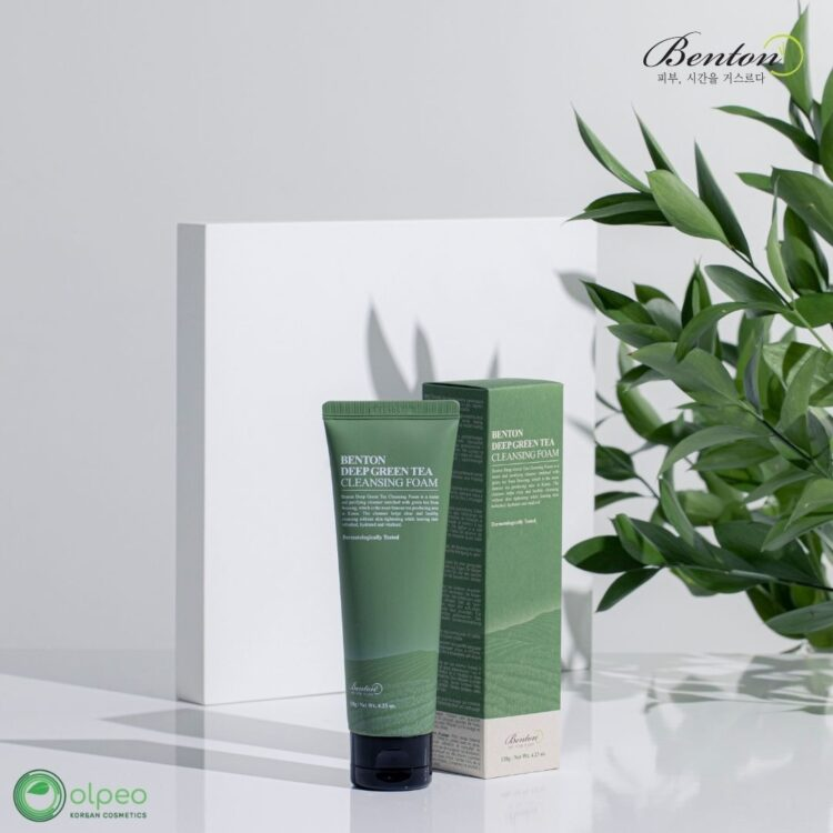 K-beauty product Benton Deep Green Cleansing Foam at Olpeo Korean Cosmetics and Skincare Store