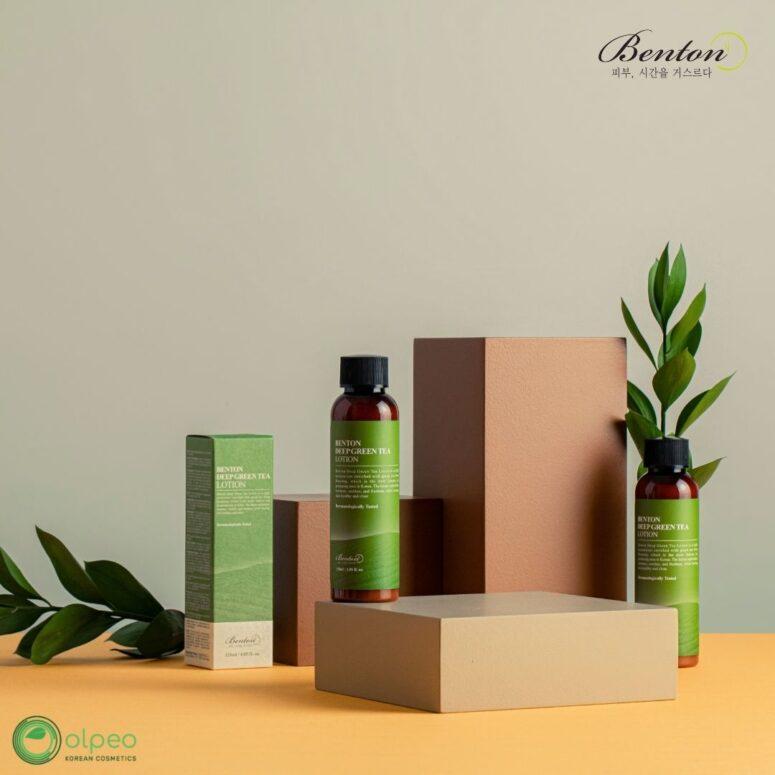 K-beauty product Benton Deep Green Tea Lotion at Olpeo Korean Cosmetics and Skincare Store