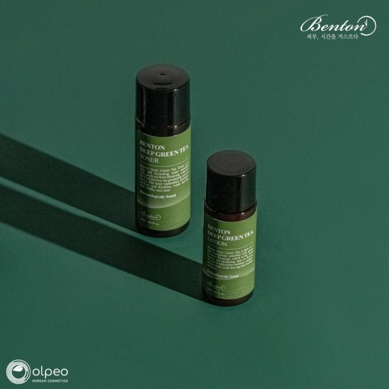 K-beauty product Benton Deep Green Tea Lotion Mini Mini at Olpeo Korean Cosmetics and Skincare Store