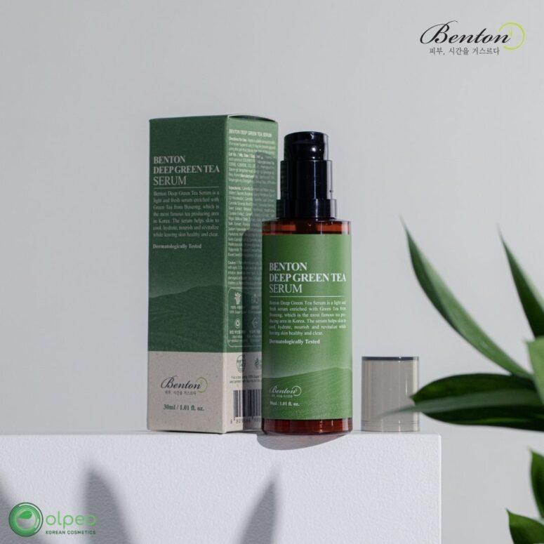 K-beauty product Benton Deep Green Tea Serum at Olpeo Korean Cosmetics and Skincare Store