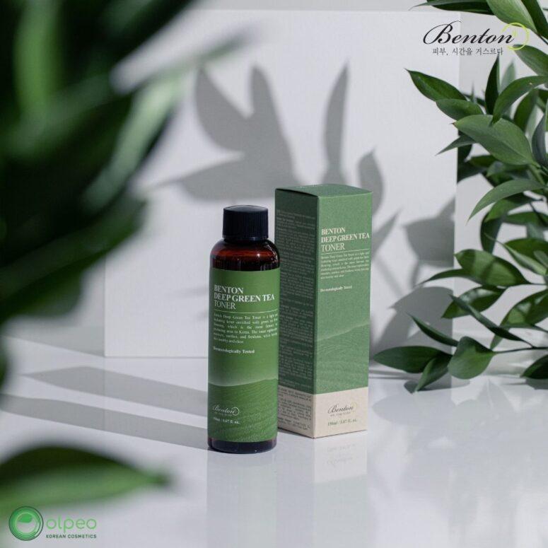K-beauty product Benton Deep Green Tea Toner at Olpeo Korean Cosmetics and Skincare Store