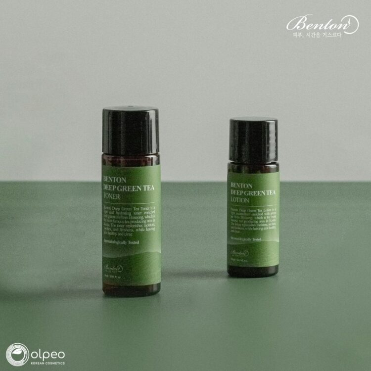 K-beauty product Benton Deep Green Tea Toner Mini at Olpeo Korean Cosmetics and Skincare Store